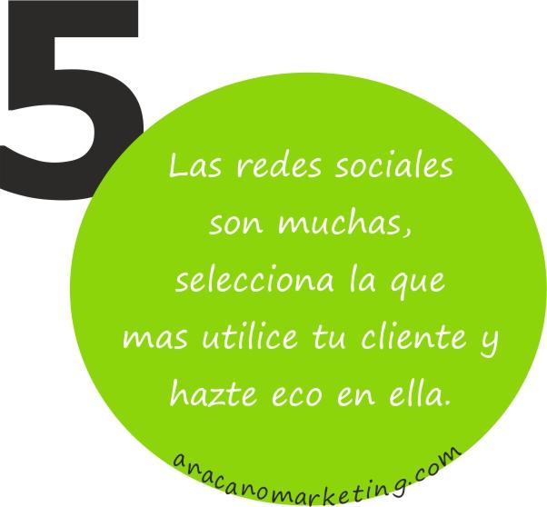 consejo 5 de usos de redes sociales